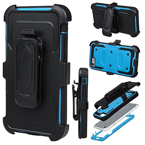 """xhorizon FM8 Eingebaut Schützender Stoßdämpfer Heavy Duty Schutz Schockreduzierung/Stoßstang Case für Apple iPhone 7 [4.7""""] (Blau) Blau"""