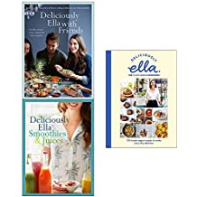 Ella mills collection deliciously ella the plant-based cookbook and smoothies & juices, friends 3 books collection set