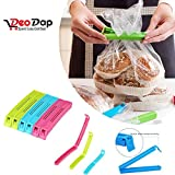 #8: DeoDap 18Pc Plastic Food Snack Bag Pouch Clip Sealer for Keeping Food Fresh for Home Kitchen Camping Snack Seal Sealing Bag Clips (Multi Color) | pouch clip sealer 18 piece | food clips sealer | food clips sealer combo | food clips combo | clip sealers for kitchen | food pouch clip |