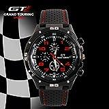 Grand Touring Sportuhr mit topaktuellen roten Ziffern - Präzessionsuhrwerk - Analog