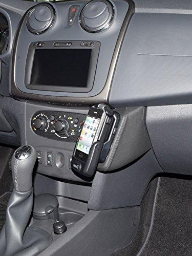 KUDA Telefonkonsole (LHD) für Dacia Sandero ab 2013 Kunstleder schwarz