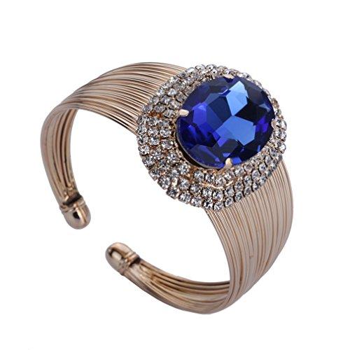 YAZILIND Weiblich Exquisite goldenen Roy Blau Gold überzogener Kristall Kreis Art Armband neuer
