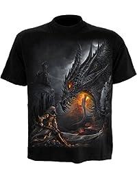 Spiral T-shirt pour homme Motif Dragon Slayer Noir