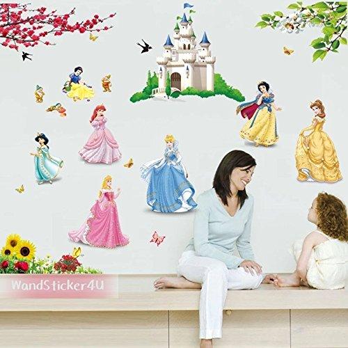 sticker4u-grande-set-principessa-castello-belle-principessa-da-parete-burg-nani-fiori-e-farfalle-gir