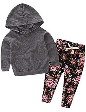 Conjuntos Bebe, ASHOP 0-24 Meses Niña Otoño/Invierno Ropa Conjuntos, Parte Superior con Capucha sólida + Pantalones...