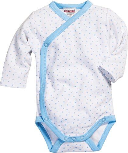 Playshoes GmbH Schnizler Unisex Baby Body Wickelbody Sterne Langarm, Oeko Tex Standard 100, Gr. Frühchen (Herstellergröße: 44), Blau (weiß/bleu 117)