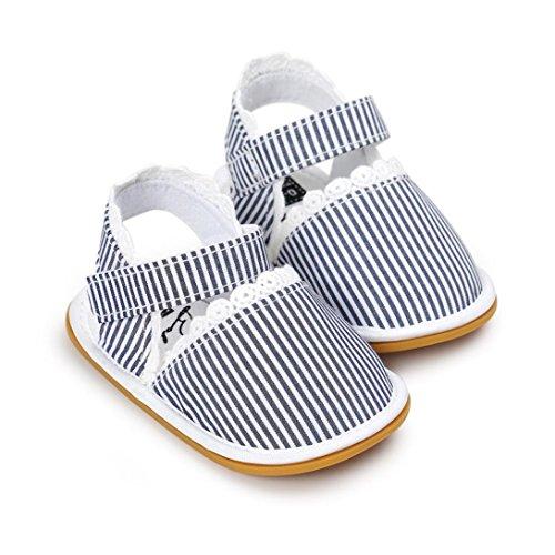 kingko® Baby Casual Schuhe Sneaker Anti Slip Soft Sole Blau