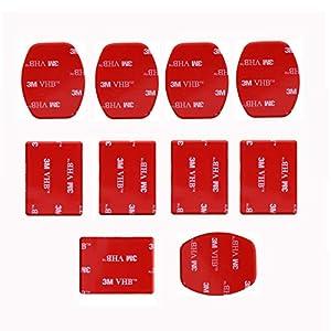 SHOOT Pour Gopro Accessoires 12 x Montures et 12 x adhésif 3M Autocollants de montage pour Go Pro 5 4 3 2 3+