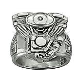 Motore V2motociclista anello in argento Sterling 92518g Beldiamo e Argento, 70 (22.3), cod. R0021A-GJ-18