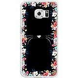 Pengyu mignon Dessin animé de chat Barbe téléphone Coque arrière pour iPhone 6Samsung Galaxy S6, plastique, #2, for Samsung Galaxy S7 Edge