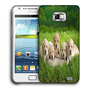 Snoogg Puppies Printed Protective Phone Back Case Cover For Samsung Galaxy S2 / S II