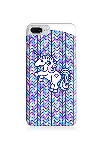 COVER Einhorn Unicorn Comic Strick Pastell Design Handy Hülle Case 3D-Druck Top-Qualität kratzfest Apple iPhone 8 Plus