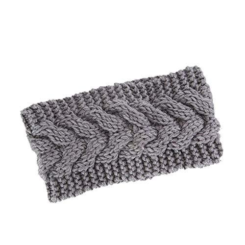 UEVOS Stirnband Damen Kopfband Stricken Haarband elastische handgefertigte Krawatte Design gestricktes 8-Wort Twist Haarband mit Bandbreite Turban