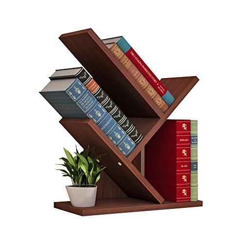 Ljf Tree Bookshelf Book Rack Display-Aufbewahrungs-Organizer-Bücherregal für CDs, Filme und Bücherhalter (Color : #2) -