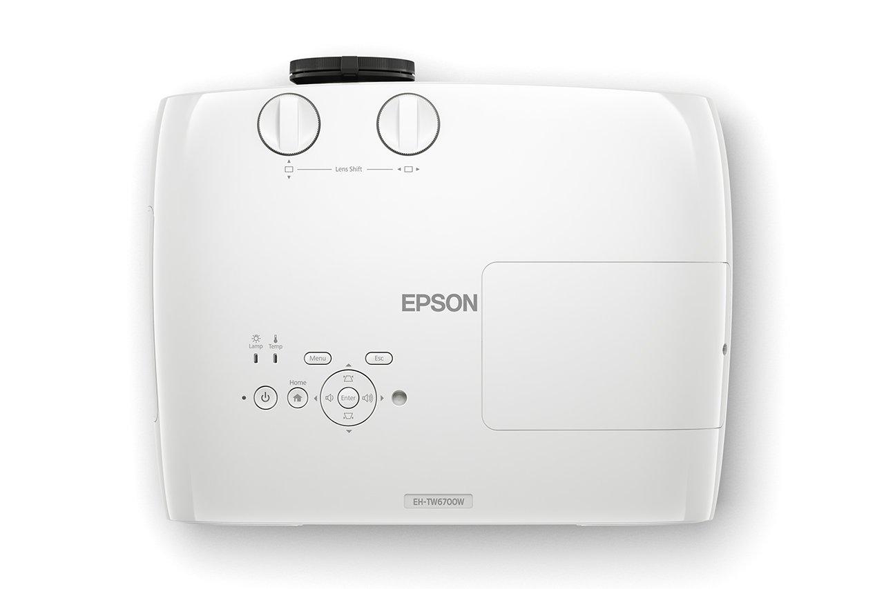 51Aygu%2BWk4L - Epson EH-TW6700W 3LCD, Full HD Super Resolution, 3000 Lumens, 300 Inch Display, Wi-Fi, Wide Lens Shift Range, Home Cinema 3D Projector - White