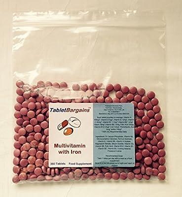 Tablet Bargains Multivitamin & Iron - 360 Tablets from Club Vits Ltd