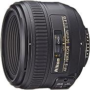 Nikon Obiettivo Nikkor AF-S 50mm 1:1,4G , Nero [Versione EU](Ricondizionato) )