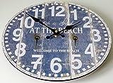 Hometime Life is good at the beach blu & bianco in legno orologio da parete ornamentali mani