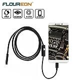 Floureon USB Endoscope Sans fil Etanche, caméra d'inspection avec 6 LEDs réglable 720P 8mm pour Android/ PC -5M