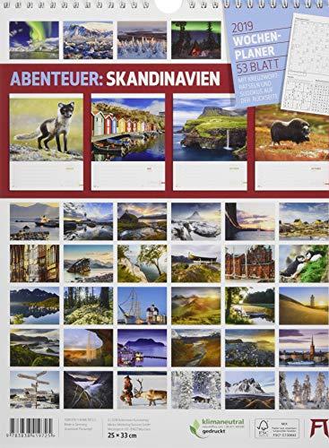 Skandinavien - Wochenplaner 2019, Wandkalender im Hochformat (25x33 cm) - Norwegen, Schweden, Finnland, Dänemark, Island - Wochenkalender mit Rätseln: Alle Infos bei Amazon