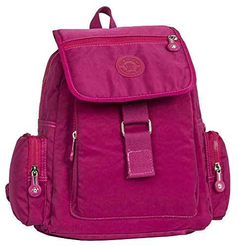 Big Handbag Shop, Borsa a zainetto donna Backpack Style 5 - Hot Pink