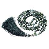 QGEM 108 Perles Bracelet Multi Tour/Mala Tibétain Bouddha/Grain de Chapelet/Collier...
