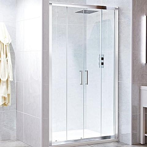 1500mm(w) x 900mm(d) Framed Twin Sliding Recessed Shower Enclosure