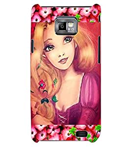ColourCraft Cute Girl Design Back Case Cover for SAMSUNG GALAXY S2 I9100