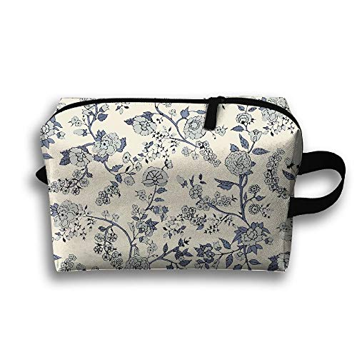 Floral Purse Bag (Storage Bag Travel Pouch Floral Purse Organizer Cosmetic Stationery Holder)