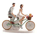 Cake Topper 'Sposi in Tandem' - Decorazione torta