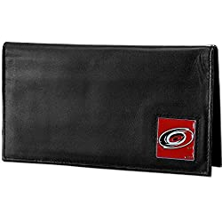 NHL Carolina Hurricanes Deluxe Leather Checkbook Wallet