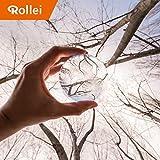 Rollei Lensball 90 mm - Foto Glas-Kugel. Die Kristall-Kugel garantiert tolle Effekte mit klaren Spiegelungen im Bild,ideal für DSLR, DSLM und Smartphones, inkl. Aufbewahrungstasche und Reinigungstuch