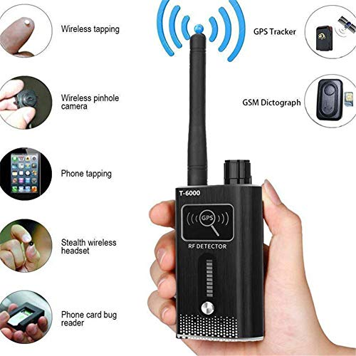 Anti-Spy Signal Detector GPS Signal Detector Spy Bug Camera Wireless Detector Spy Detector Device GPS RF Scanner Finder GSM Device Finder Spy Wireless Camera Battery