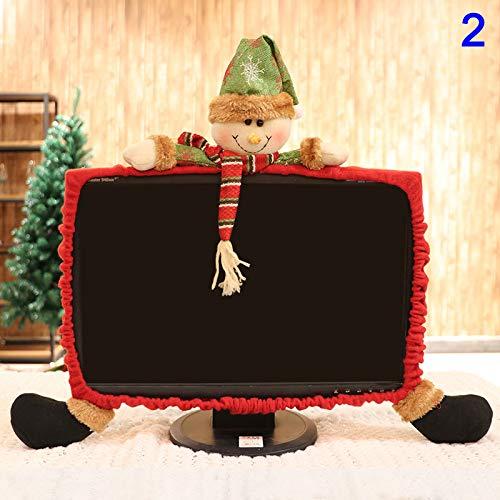 Henreal Lustige Weihnachtsdekoration, für Laptop, Büro, Laptop, Dekoration 2