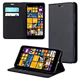 ECENCE Handyhülle Schutzhülle Case Cover kompatibel für Nokia Lumia 625 Handytasche Schwarz 21040108