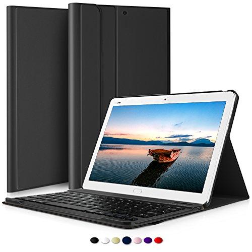 ELTD HUAWEI MediaPad M3 lite 10 QWERTZ Tastatur, Abnehmbare Wireless Bluetooth Tastatur Schutzhülle mit Standfunction Für HUAWEI MediaPad M3 lite 10 Tablet, Schwarz