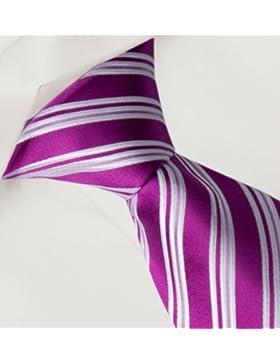 Corbata de Fabio Farini en rosa blanco
