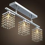 LightInTheBox–Alarma Box Mini Style araña con 3luces en cristal rasante moderna lámpara de techo para pequeña (10–15& # x33a1;) Diario, comedor, Dormitorio 220–240V