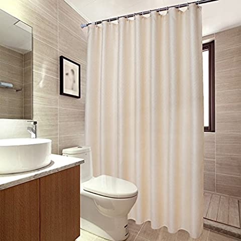 ZXLDP Duschvorhänge Thicken Beige Polyester Tuch Badezimmer Hängen Vorhänge / Wasserdicht Und Schimmel Doppelseitig Muster Duschvorhang (Größe Optional) Badezimmerzubehör ( größe : 200*230cm )