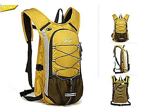 Bequem Wasserdicht Rucksack für Reisen Wandern Camping Radfahren Alle Outdoor-Sport Gelb