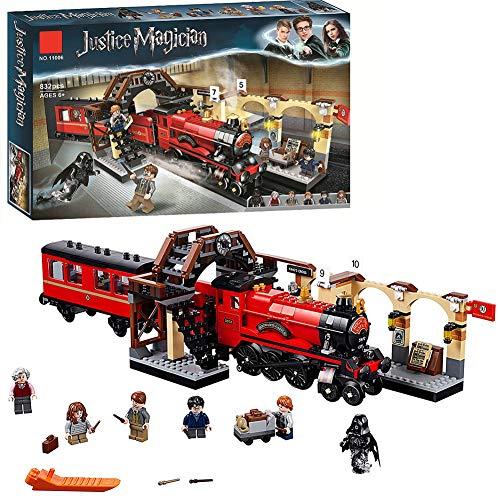 Harry Potter Hogwarts Express Train Toys, Wizard World Fan Gifts, Set di Costruzione per Bambini