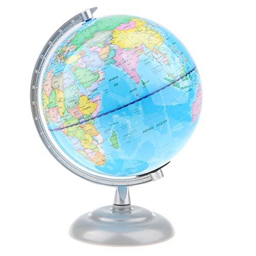 D DOLITY 20cm Geographische Globus, drehbar 360 Grad Politische Weltkarte Weltkugel Mit Licht für Geographie und Geschichte Lehrmittel