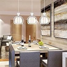 wysm Tres luces de restaurante Lámpara Simple Moderna Mesa de comedor Bar Sala de estar Lámpara Cristal Balcón Comedor Lámparas de comida
