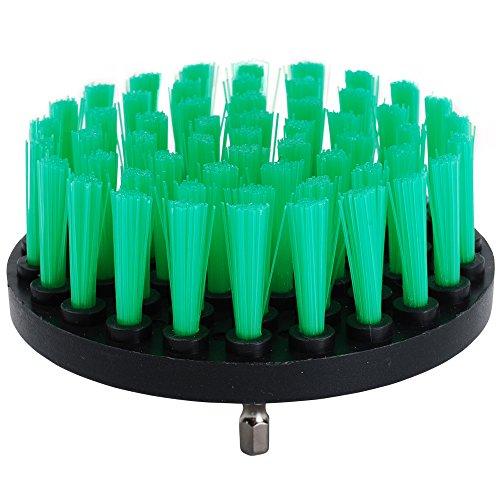 oxoxo HSS-Bürste–10,2cm Medium Steifigkeit Power Schrubben Bürste Bohraufsatz für Reinigung Duschen, Badewannen, Badezimmer, Fliesen, Mörtel, Teppich, Reifen, Boote