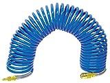 Druckluftschlauch Spiralschlauch 10x1 mit Stecknippel und Kupplung 10 Meter