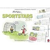 SPORTSTARS - der athletische Planungskalender (Wandkalender 2014 DIN A3 quer): Kräftige Cartoons für ein flottes Jahr! (Monatskalender, 14 Seiten)