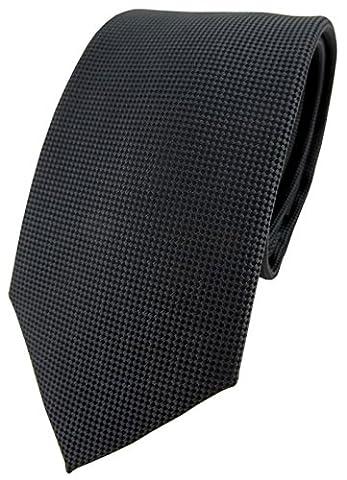 mode TigerTie Designer cravate en anthracite gris foncé à pois