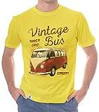 Herren T-Shirt - Vintage Bus - Since 1950 gelb-rot S