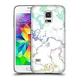 Head Case Designs Regenbogen Schimmerndes Marmor Ruckseite Hülle für Samsung Galaxy S5 Mini
