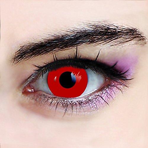 lentillas de contacto rojo vampiro halloween rojo out - sin corrección